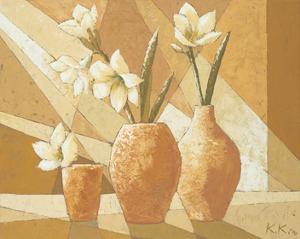 Vases with White Amaryllis by Karsten Kirchner