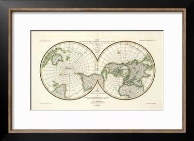 Karte Der Magnetischen Meridiane Und Parallel Kreise C 1840 Art Print Heinrich Berghaus Art Com
