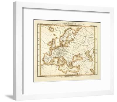 Karte Von Europa C 1837 Art Print Heinrich Berghaus Art Com
