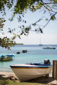 Caribbean Boats IV by Karyn Millet