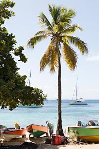 Caribbean Boats V by Karyn Millet