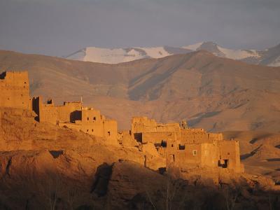 Kasbah Near El Kelaa M'Gouna, Dades Valley, High Atlas Mountains, Morocco, North Africa-Bruno Morandi-Photographic Print