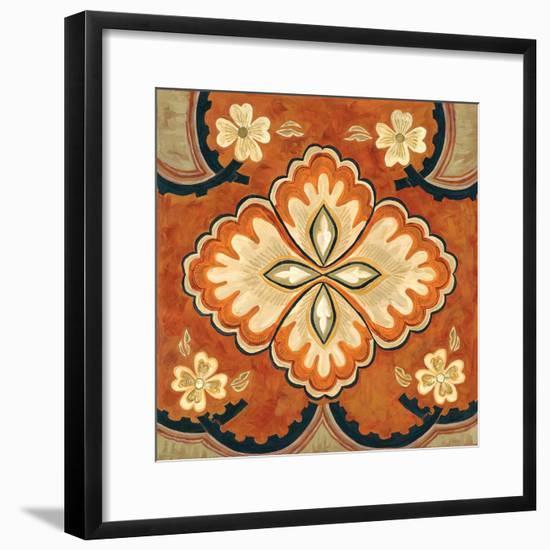 Kashmir Motif B-Judy Shelby-Framed Art Print