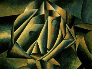 Face of a Peasant Girl, c.1912 by Kasimir Malevich