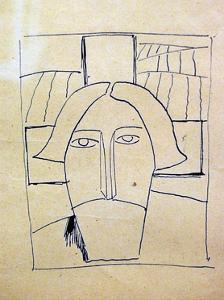 Farmer's Head by Kasimir Malevich