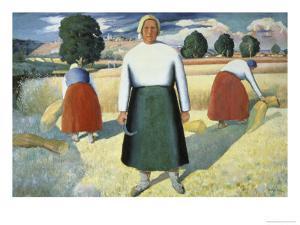 Female Farmers by Kasimir Malevich
