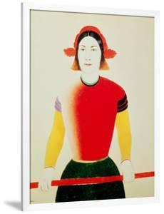 Girl with a Pole (Oil) by Kasimir Malevich