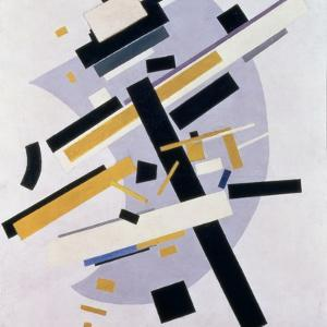 Supremus No. 58 Dynamic Composition in Yellow and Black, 1916 by Kasimir Malevich