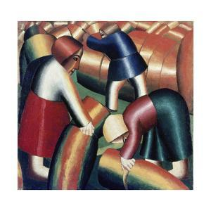 Taking in the Rye, 1911-12 by Kasimir Malevich