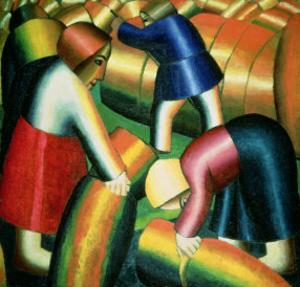 Taking in the Rye, 1912 by Kasimir Malevich