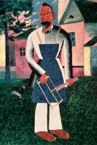 The Carpenter III, 1910 by Kasimir Malevich