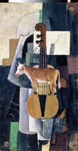 The Cow and the Violin by Kasimir Malevich