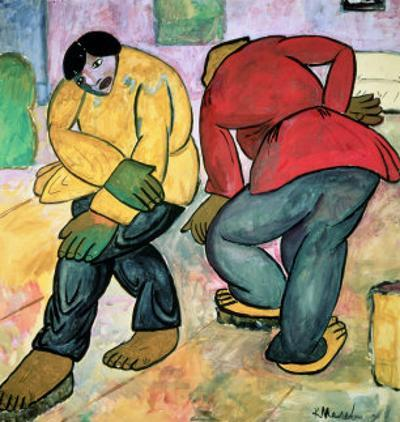The Floor Polishers, 1911 by Kasimir Malevich