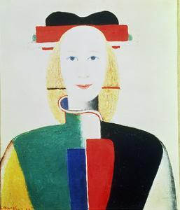 The Girl with the Hat by Kasimir Malevich