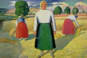 The Harvesters, 1909-10 by Kasimir Malevich