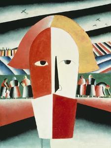 The Head of a Peasant, 1928-30 by Kasimir Malevich