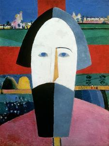 The Head of a Peasant, c.1929-32 by Kasimir Malevich
