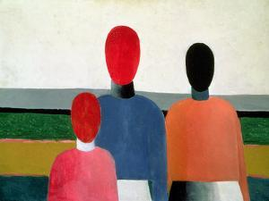 Three Female Figures, 1928-32 by Kasimir Malevich