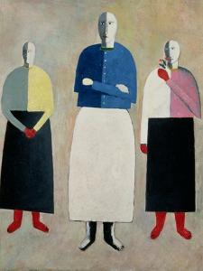 Three Little Girls, 1928-32 by Kasimir Malevich
