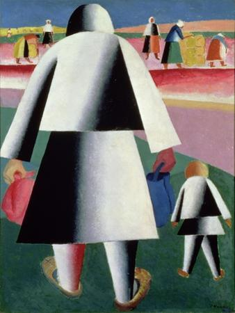 To the Harvest, Martha and Vanka, 1928 by Kasimir Malevich