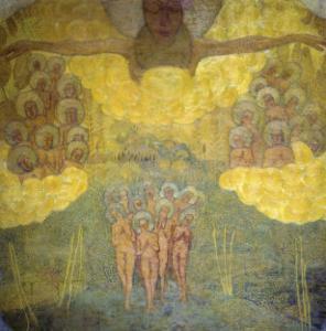 Triumph of Heaven Sketch by Kasimir Malevich