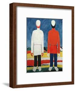 Two Masculine Figures, 1928-32 by Kasimir Malevich