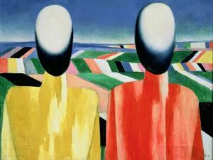 Two Peasants by Kasimir Malevich