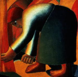 Woman Cutting, circa 1900 by Kasimir Malevich