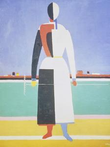 Woman with a Rake, 1915 by Kasimir Malevich