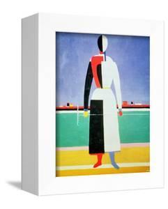 Woman with a Rake, circa 1928-32 by Kasimir Malevich