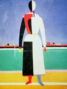 Woman with a Rake, circa 1928-32 by Kasimir Malevich