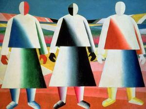 Young Girls in a Field, 1928-32 by Kasimir Malevich