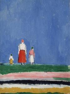Three Figures. Ca. 1913-1928 by Kasimir Malewitsch