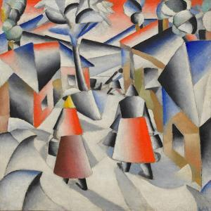 Morning in the Village after Snowstorm by Kasimir Severinovich Malevich