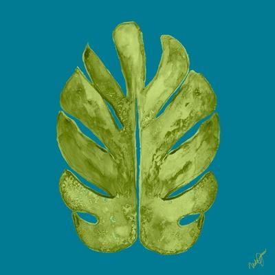 Leaf On Teal I
