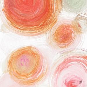 Orange Contempo Light Circles by Kat Papa