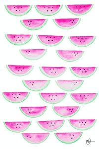 Watercolor Watermelons by Kat Papa