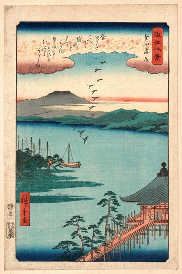 Katada No Rakugan-Utagawa Hiroshige-Giclee Print