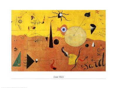 Katalanische Landschaft-Joan Mir?-Art Print