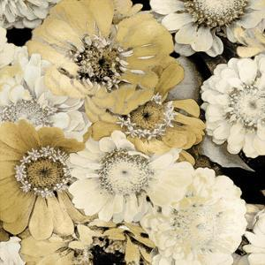 Floral Abundance in Gold II by Kate Bennett
