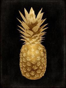 Gold Pineapple on Black II by Kate Bennett