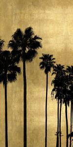 Palm Silhouette on Gold I by Kate Bennett