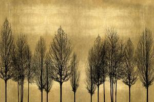 Tree Line on Gold by Kate Bennett