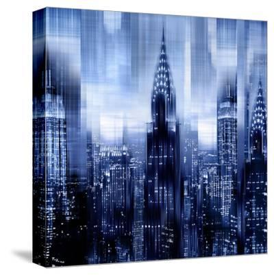 NYC - Reflections in Blue I by Kate Carrigan