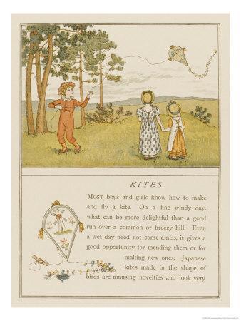Children Flying a Kite