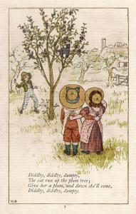 Diddlty Diddlty Dumpty the Cat Ran up the Plum Tree by Kate Greenaway