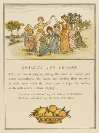 Girls Playing Oranges and Lemons by Kate Greenaway