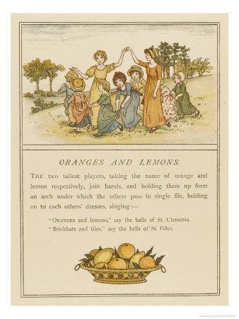Girls Playing Oranges and Lemons