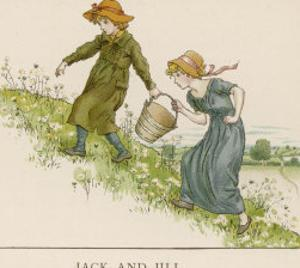 Here are Jack and His Sister Jill Making Their Way up the Hill by Kate Greenaway