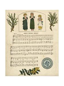 Illustration with Music, Grace before Meals by Kate Greenaway